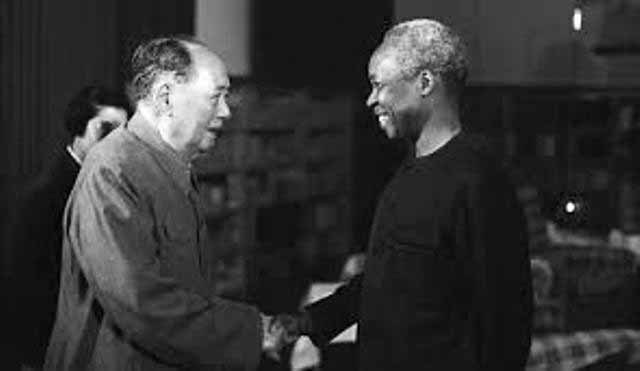 Mwalimu Nyerere with Chairman Mao Tse Tung