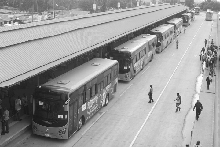 One of the Rapid Bus Transit Stations