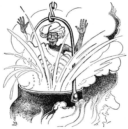 The sorcerer was pushed straight into the pot