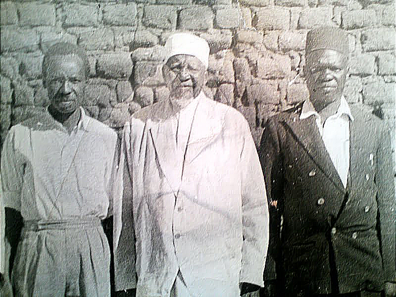 Chief Abdallah Said Fundikira III with Julius Nyerere