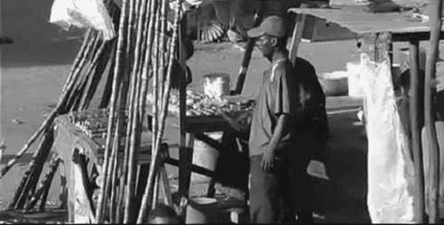 Food vendor at Uwanja wa Fisi