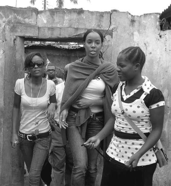 R and B superstar Kelly Rowland at Uwanja wa Fisi Manzese Tanzania