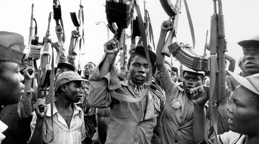 FRELIMO soldiers during the Mozambican Civil War - 1977 to 1992