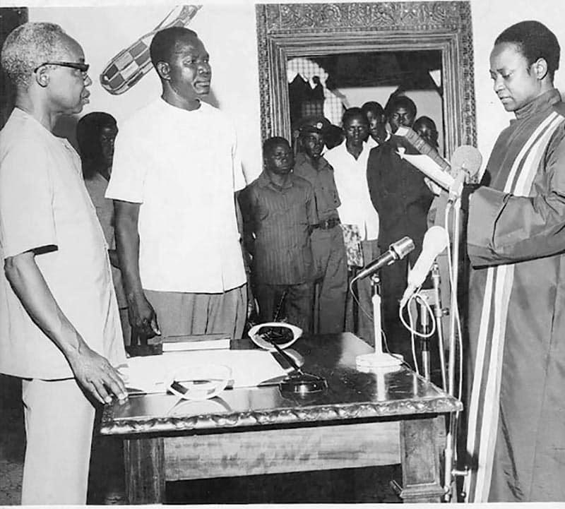 Inauguration of Nyalali as Chief Justice