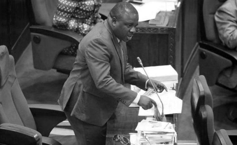 Joseph Mbilinyi (Mr. II, Sugu, 2 Proud) in one of parliament sessions