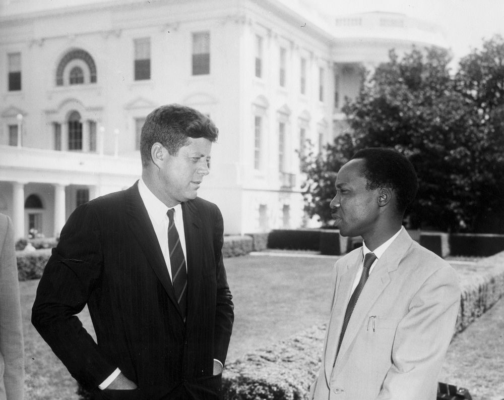 Nyerere meeting with John F Kennedy
