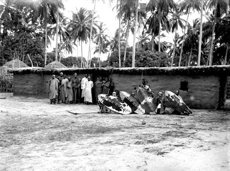 A group of Hehe warriors in Iringa