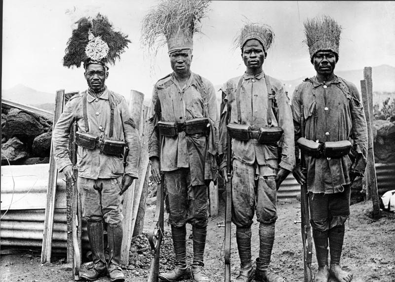 African soldiers called Askaris who were working under the command of Germans