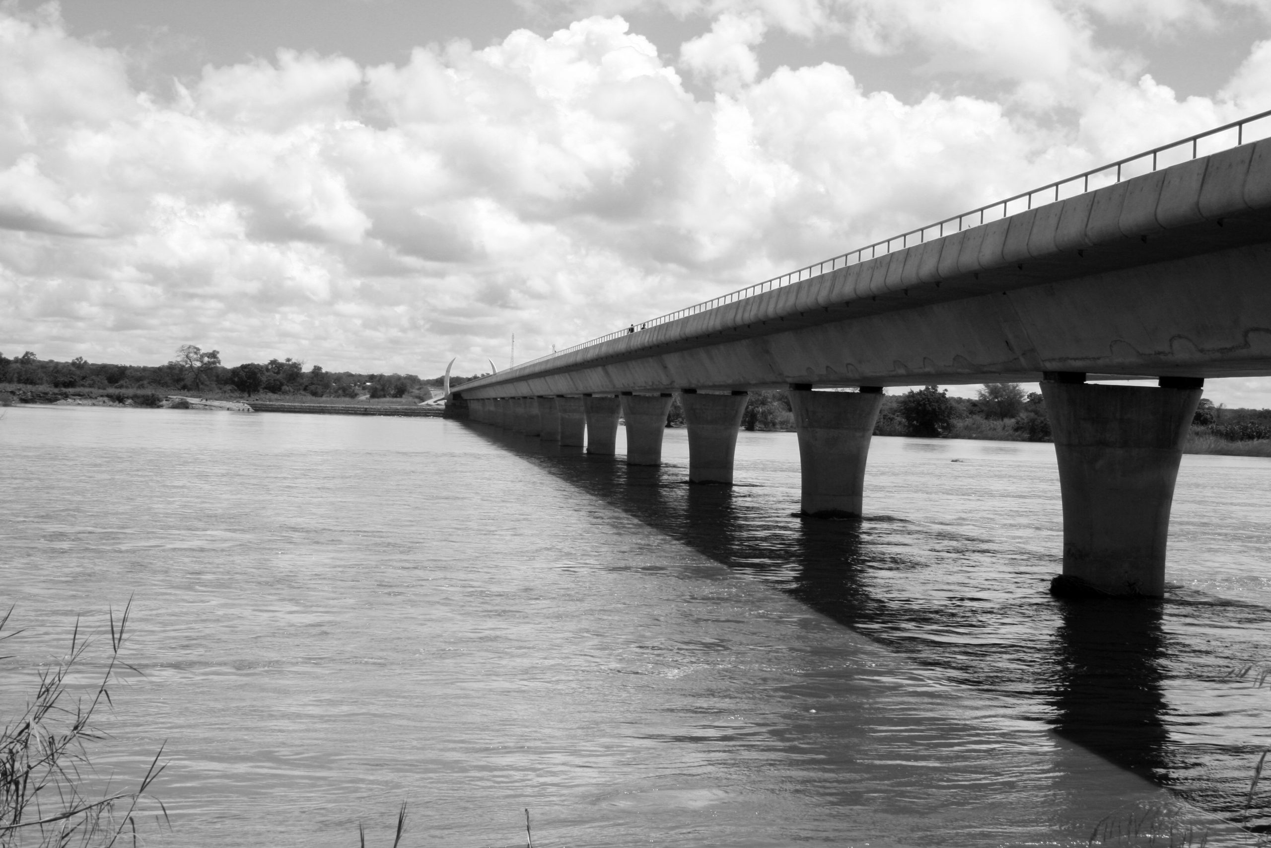 Bridge on Ruvuma river - view from the Mozambique side