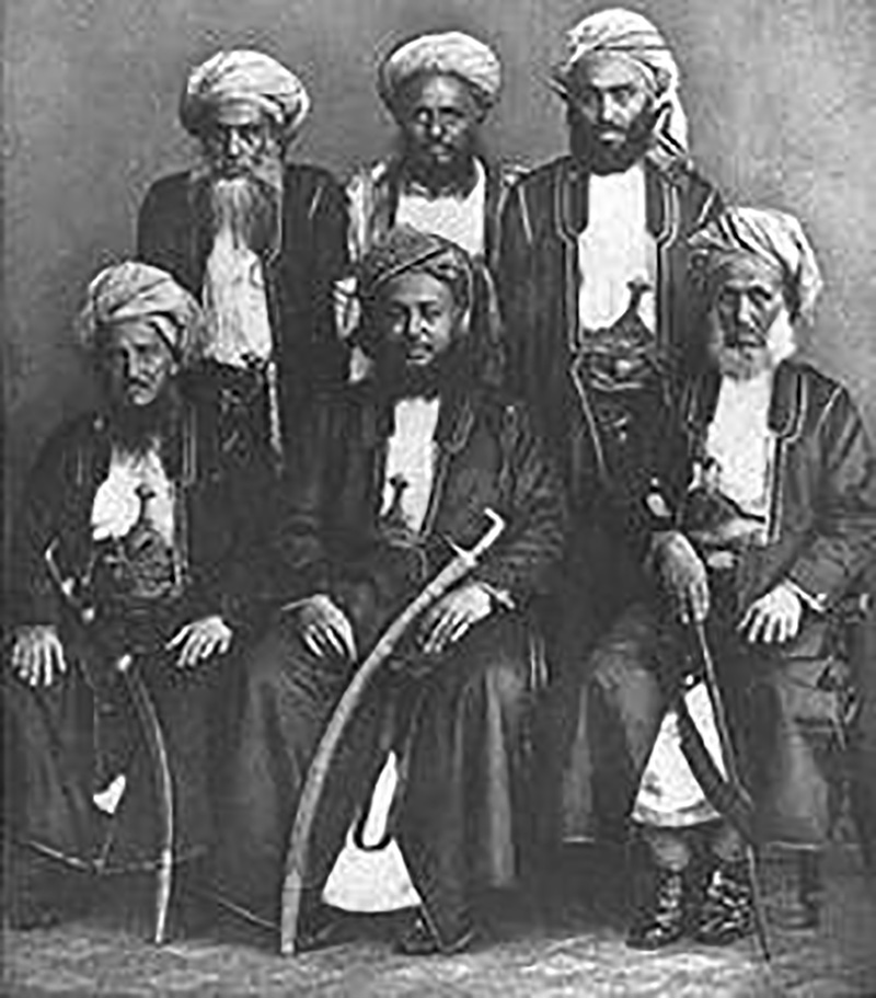 Sayyed Bargash with his team of ministers
